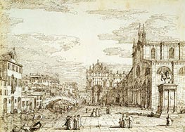 Canaletto | Campo Santi Giovanni e Paolo | Giclée Paper Print