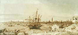Canaletto | The Bacino from the Punta di Sant'Antonio | Giclée Paper Print