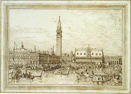 Canaletto   The Molo from the Bacino, c.1740/45   Giclée Paper Print
