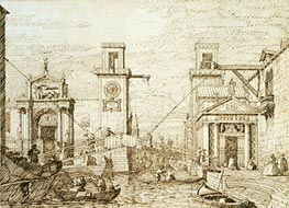 Canaletto | The Entrance to the Arsenale, c.1740/45 | Giclée Paper Print