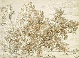 Canaletto | Trees on the Shores of the Lagoon | Giclée Paper Print