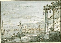 Canaletto | A Coastal Capriccio | Giclée Paper Print