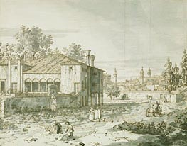 Canaletto | A Villa on the Outskirts of Padua | Giclée Paper Print