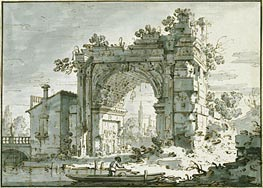 Canaletto | A Capriccio with a Roman Arch | Giclée Paper Print