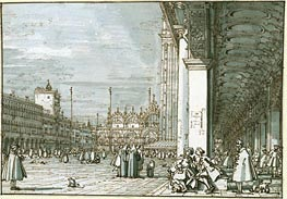 Canaletto | The Piazza Looking North-East from the Procuratie Nuove | Giclée Paper Print