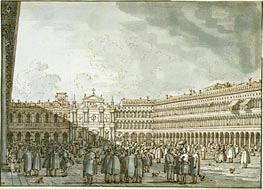 Canaletto | The Piazza Looking West from the Procuratie Nuove | Giclée Paper Print