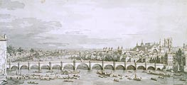 Canaletto | Westminster Bridge, London | Giclée Paper Print