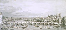 Canaletto | Westminster Bridge, London, c.1747 | Giclée Paper Print