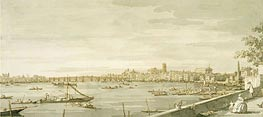 Canaletto | London: A View of Westminster from the Terrace of Somerset House | Giclée Paper Print