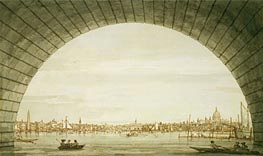 Canaletto | London: The City Seen through an Arch of Westminster Bridge | Giclée Paper Print