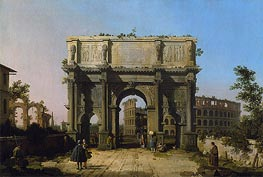 Canaletto | View of the Arch of Constantine with the Colosseum | Giclée Paper Print
