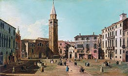 Campo Sant'Angelo, Venice, c.1730/40 by Canaletto | Giclée Canvas Print