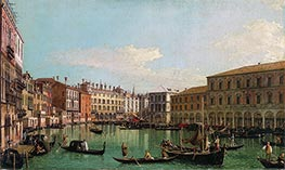 Canaletto | The Grand Canal, Venice, Looking South toward the Rialto Bridge, c.1730/40 | Giclée Canvas Print