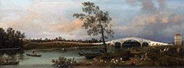 Old Walton Bridge, 1755 by Canaletto | Giclée Canvas Print