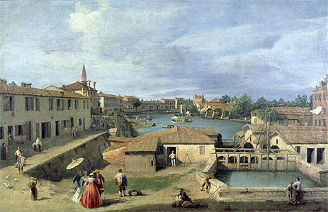 A View of Dolo on the Brenta Canal, c.1727/40 | Canaletto | Painting Reproduction