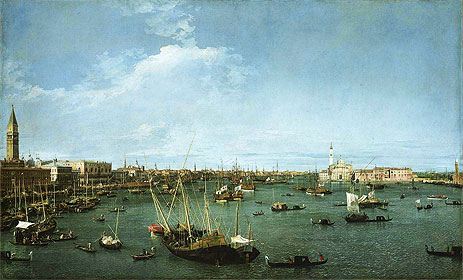 Bacino di San Marco, Venice, c.1738 | Canaletto | Painting Reproduction