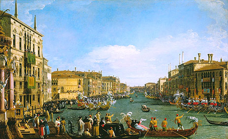 A Regatta on the Grand Canal, c.1733/34 | Canaletto | Painting Reproduction