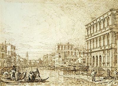 The Lower Reach of the Grand Canal, c.1734 | Canaletto | Painting Reproduction