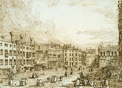 Campo Santo Stefano, c.1735/40 | Canaletto | Painting Reproduction