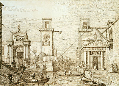The Entrance to the Arsenale, c.1740/45 | Canaletto | Painting Reproduction