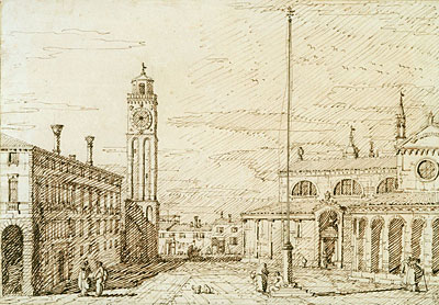 A Capriccio with Santi Maria e Donato, Murano, c.1740/45 | Canaletto | Painting Reproduction