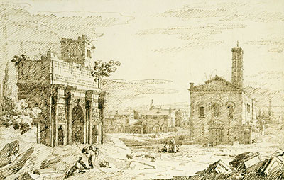 Rome: The Arch of Septimius Severus, c.1742 | Canaletto | Painting Reproduction