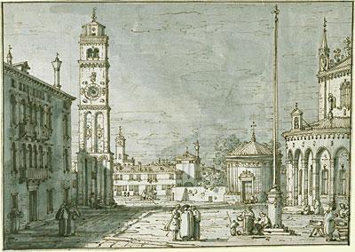 A Capriccio with Santi Maria e Donato, Murano, c.1755/60 | Canaletto | Painting Reproduction
