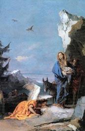 Tiepolo | Flight into Egypt, c.1767/70 | Giclée Canvas Print