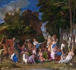 Giovanni Bellini | The Feast of the Gods, c.1514/29 | Giclée Canvas Print