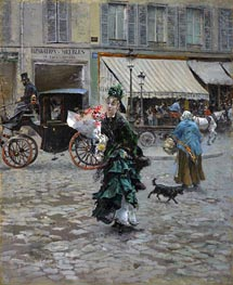 Giovanni Boldini | Crossing the Street, 1875 | Giclée Canvas Print