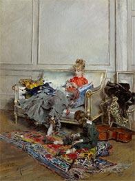 Giovanni Boldini | Young Woman Crocheting, 1875 | Giclée Canvas Print