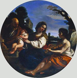 Guercino | Rest on the Flight into Egypt, 1624 | Giclée Canvas Print