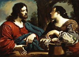 Guercino   Christ and the Woman of Samaria, c.1620   Giclée Canvas Print