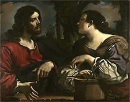 Guercino   Christ and the Woman of Samaria, c.1619/20   Giclée Canvas Print