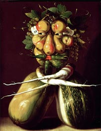 Arcimboldo | Whimsical Portrait, undated | Giclée Canvas Print