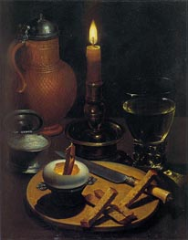 von Wedig | Still Life with Candle, 1630 | Giclée Canvas Print