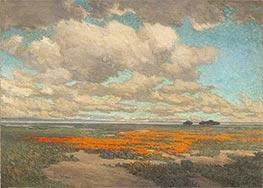A Field of California Poppies, 1911 by Granville Redmond | Giclée Canvas Print
