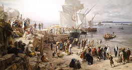 Bauernfeind | Jaffa, Recruiting of Turkish Soldiers in Palestine, 1888 | Giclée Canvas Print