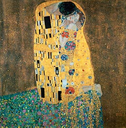 Klimt | The Kiss, c.1907/08 by | Giclée Canvas Print