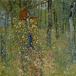 Klimt | Farm Garden with Crucifix | Giclée Canvas Print