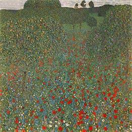 Klimt | Poppy Field, 1907 | Giclée Canvas Print