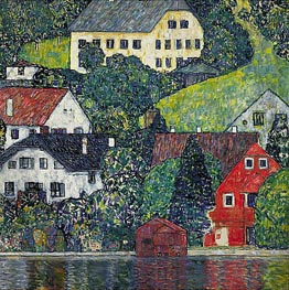 Klimt | Houses at Unterach on the Attersee, c.1916 | Giclée Canvas Print