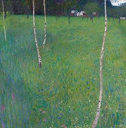 Klimt | Farmhouse with Birch Trees, 1900 | Giclée Canvas Print