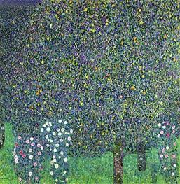 Klimt | Roses Under the Trees, 1905 | Giclée Canvas Print