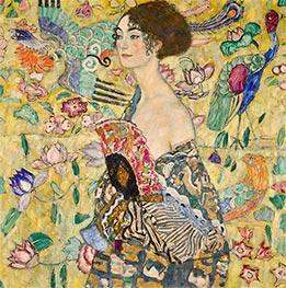 Klimt | Lady with a Fan, c.1917/18 | Giclée Canvas Print