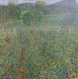Klimt | Field of Flowers (Orchard), c.1905 | Giclée Canvas Print