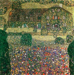 Klimt | Country House by the Attersee, c.1914 | Giclée Canvas Print