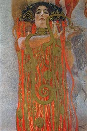 Klimt | Hygieia (detail from Medicine) | Giclée Canvas Print