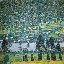 Klimt | Forest Slope in Unterach on the Attersee, 1917 | Giclée Canvas Print