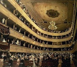 Klimt | The Auditorium of the Old Castle Theatre, 1888 | Giclée Canvas Print